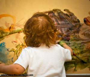 نخستین مراحل نقاشی کودکانه