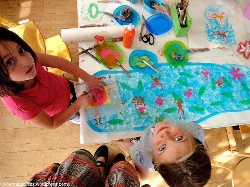 گفت وگو با کودکان درباره کارهای هنری آن ها
