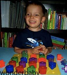 کودک نابینا و اسباب بازی