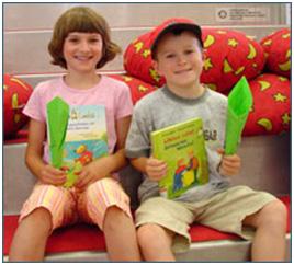 کتابخانه عمومی  اولم در آلمان کودکان را به خواندن تشویق می کند