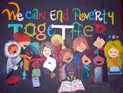 ما می توانیم با هم فقر یا ناداری را پایان بخشیم!